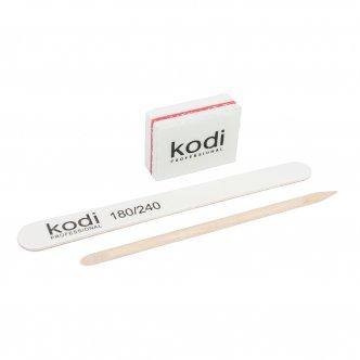 Фото - Набор одноразовый для маникюра (пилочка, баф, апельсиновая палочка) от KODI PROFESSIONAL