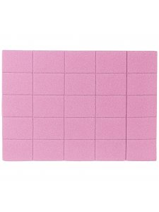 Набор мини бафов 120/120, цвет: розовый (50шт/уп)