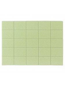 Набор мини бафов 120/120, цвет: зеленый (50шт/уп)