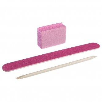 Фото - Набор одноразовый для маникюра, цвет: розовый (пилочка 120/120, баф 120/120, апельсиновая палочка) от KODI PROFESSIONAL
