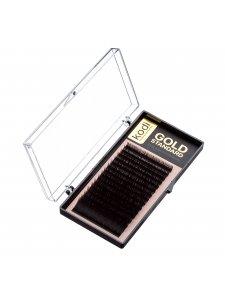 Ресницы C 0.12 (16 рядов: 12 мм) Gold Standard