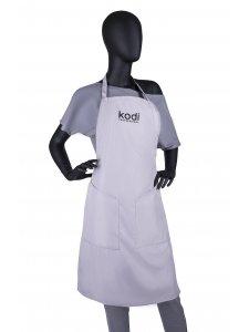 Фартук Kodi professional cерый с черным логотипом (длинный)