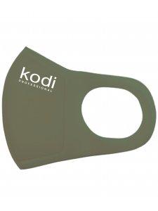 Двухслойная маска из неопрена без клапана, зеленая хаки с логотипом Kodi Professional
