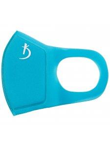 Двухслойная маска из неопрена без клапана, голубая с логотипом
