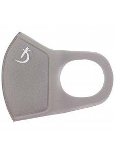Двухслойная маска из неопрена без клапана, серая с логотипом