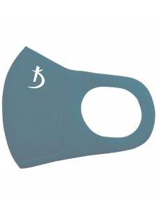 Двухслойная маска из неопрена без клапана, темно-синяя с логотипом