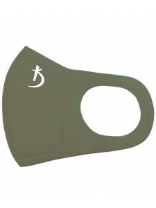 Двухслойная маска из неопрена без клапана, зеленая хаки с логотипом