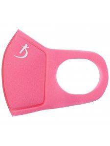 Двухслойная маска из неопрена без клапана, розовая с логотипом