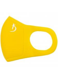 Двухслойная маска из неопрена без клапана, желтая с логотипом