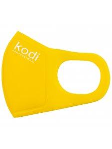 Двухслойная маска из неопрена без клапана, желтая с логотипом Kodi Professional