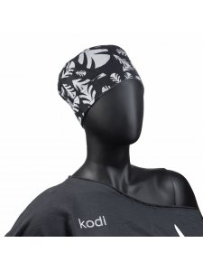 Шапочка женская для мастера черная с перышками (размер: 59)