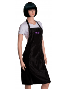 Фартук Kodi professional черный с фиолетовым логотипом (длинный)