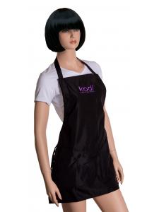 Фартук Kodi professional черный с фиолетовым логотипом (короткий)