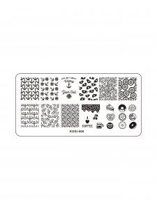 Пластина для стемпинга KODI-006 (металл)